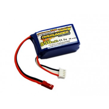 850mAh 3S 11.1v 30C LiPo Battery with BEC Connector