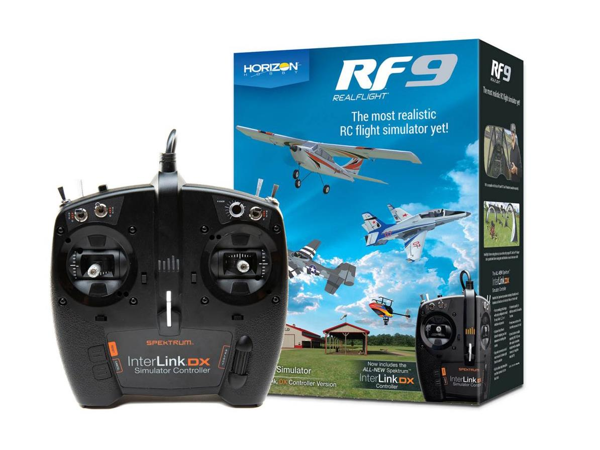 Realflight RF9 with Spektrum InterLink DXA-RFL1100