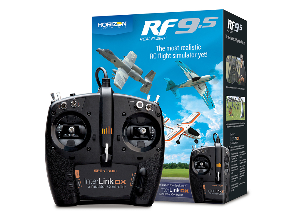 RealFlight 9.5 RC Flight Simulator inc Spektrum InterLink DX