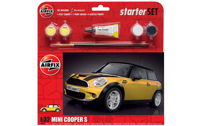 Airfix MINI Cooper S - Yellow 1:32 Scale Starter Set