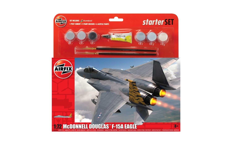 Airfix Large Starter Set - McDonnell Douglas F-15A Eagle 1:72 scale