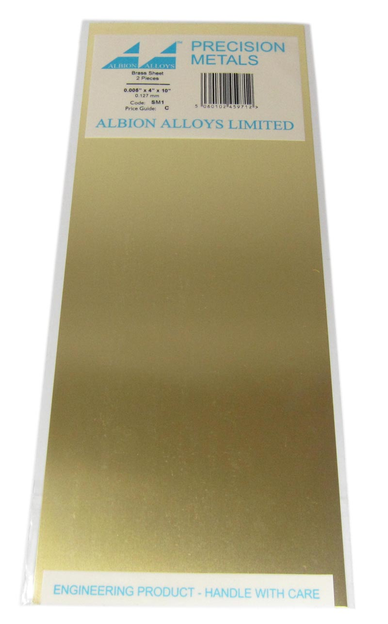 0.005in Brass Sheet