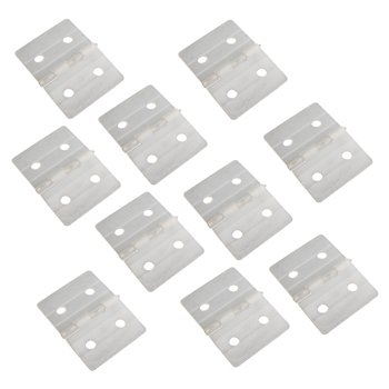 NYLON PINNED HINGES-WHITE (10) L27xW36mm