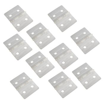NYLON PINNED HINGES-WHITE (10) L27xW36mm