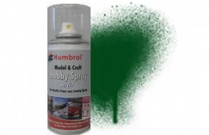 Humbrol 150ml Sray Acrylic 3 Brunswick Green Gloss