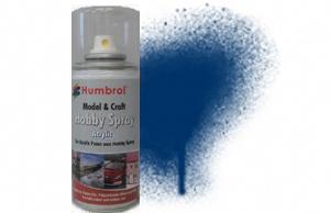 Humbrol 150ml Spray Acrylic 15 Midnight Blue Gloss