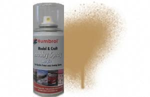 Humbrol 150ml spray Acrylic 93 Desert Yellow Matt