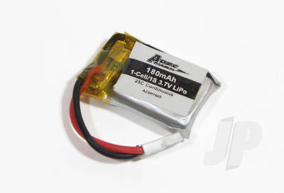 180mAh 1-Cell/1S 3.7v 25C Lipo Battery (Spidex)