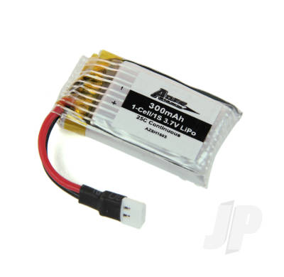 300mAh 1-Cell 3.7V 22C LiPo battery (Spidex 3D)