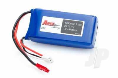Ethos HD 1200 mAh 2-cell 7.4v 25C Lipo Battery