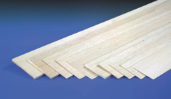 2.5mm x 100mm x 1000mm Balsa Sheet