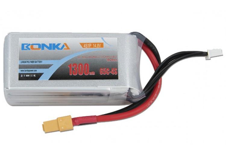 Bonka 1300mAh 4S 65C Lipo Battery