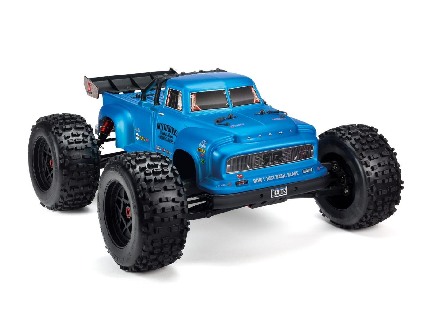 Arrma Notorious 6S 1/8 Classic Stunt Truck RTR Blue