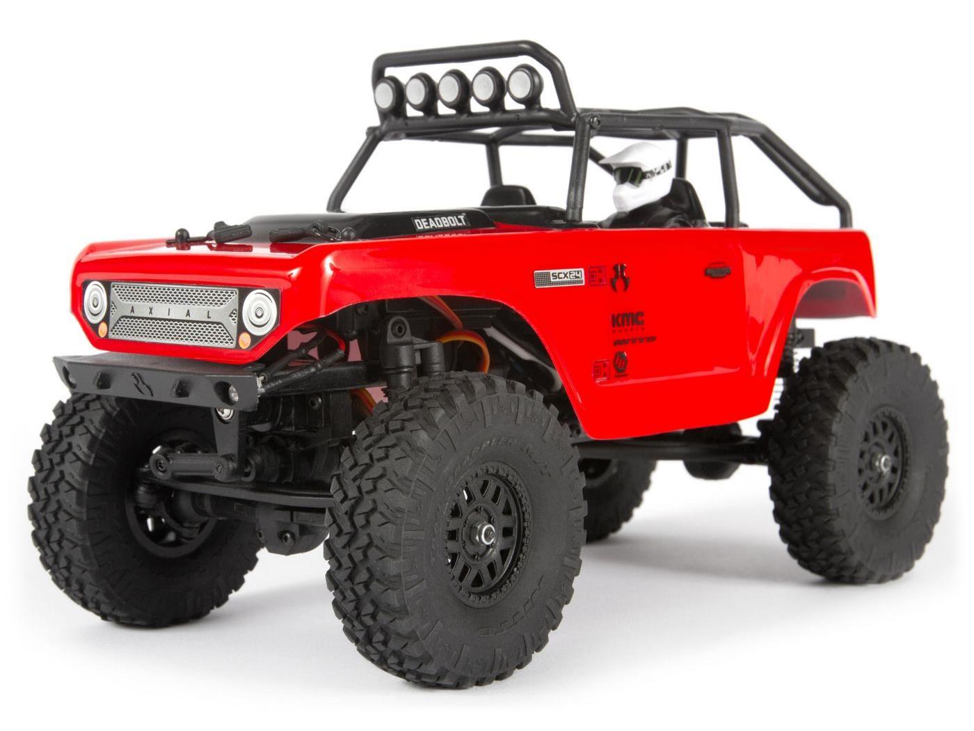 Axial SCX24 Deadbolt 1/24th Scale Elec 4WD - RTR, Red