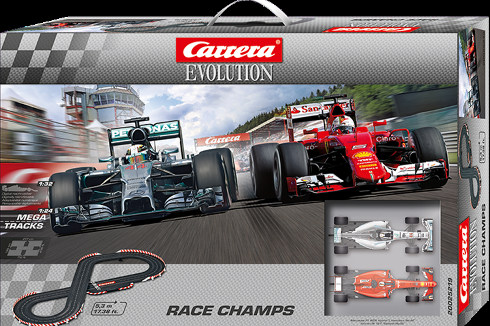 Carrera Evolution Set Race Champs 1/32 Hamilton Vettel