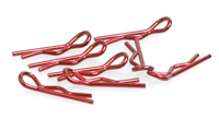 Small Body Clip 1/10 - Metallic Red (Pk8)