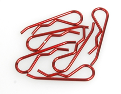 Body Clip 1/8 - Metallic Red (Pk6)