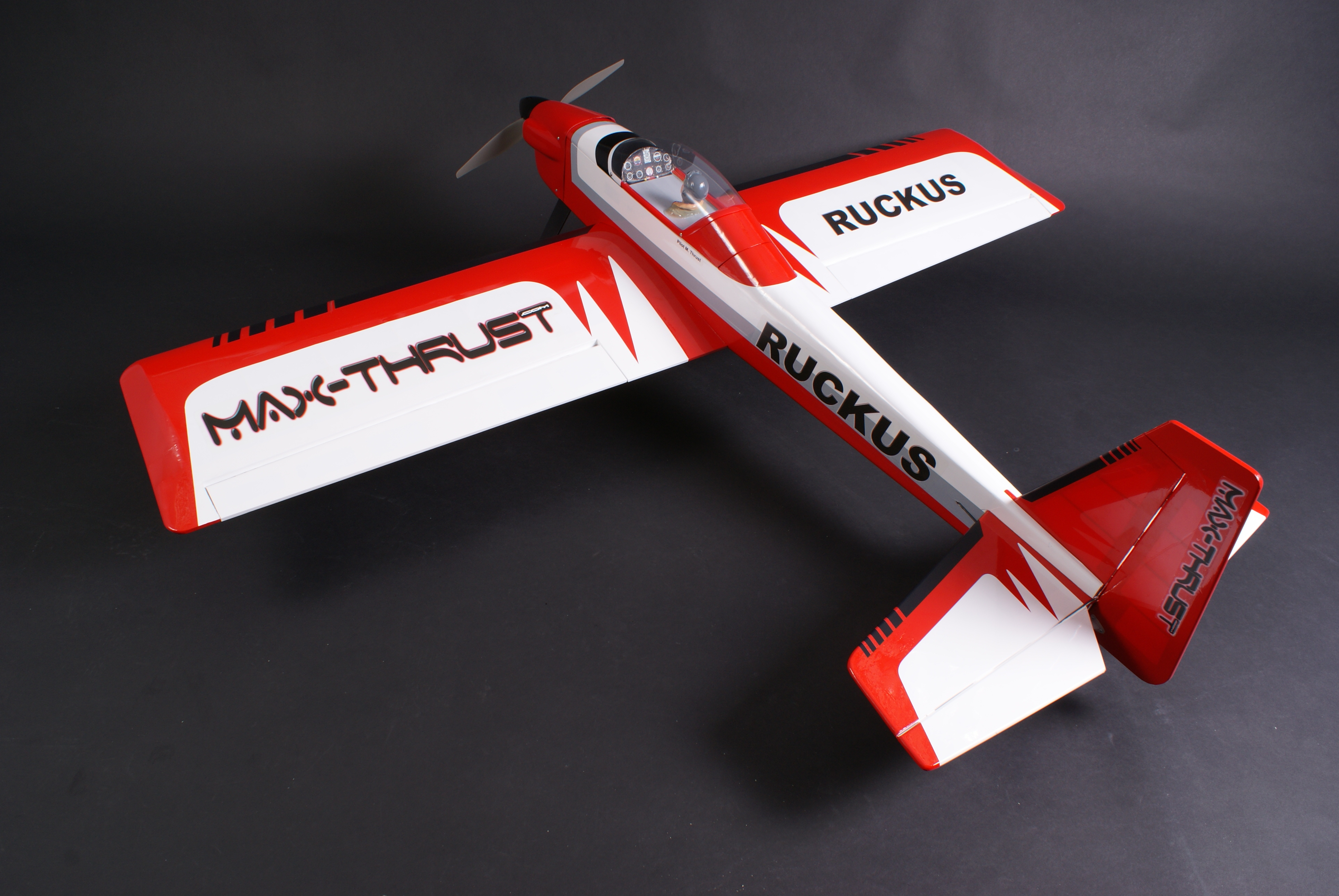 MAX THRUST PRO-BUILT BALSA RUCKUS KIT RED - IC OR ELECTRIC