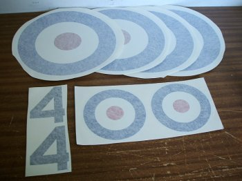 1/4 Scale Sopwith Pup Decals