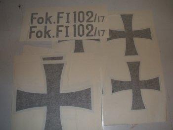 1/4 Scale Fokker DR-1 Tri (Maltese Crosses)