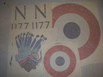 1/4 Scale Nieuport 17 Decals