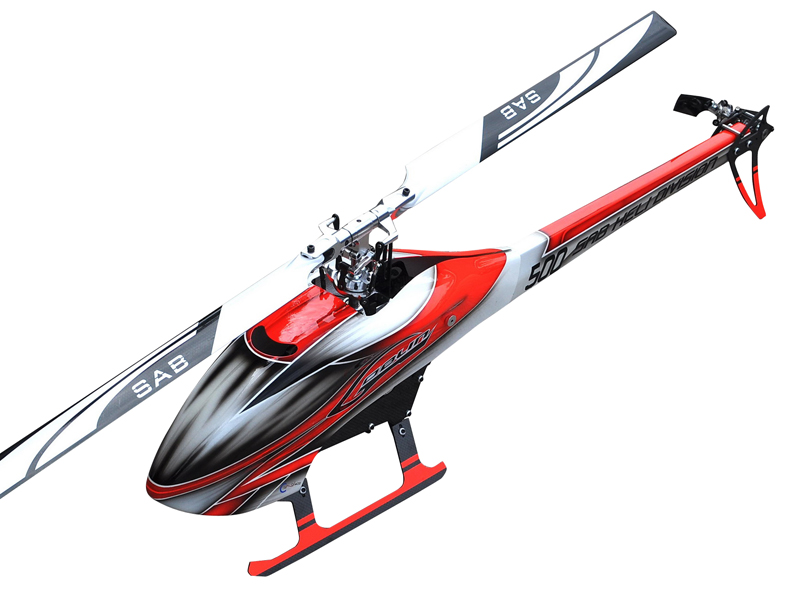 Sab Goblin 500 Flybarless Helicopter (Red/White)