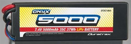 5000mAh 2S 7.4V 35C Onyx Hard Case Lipo