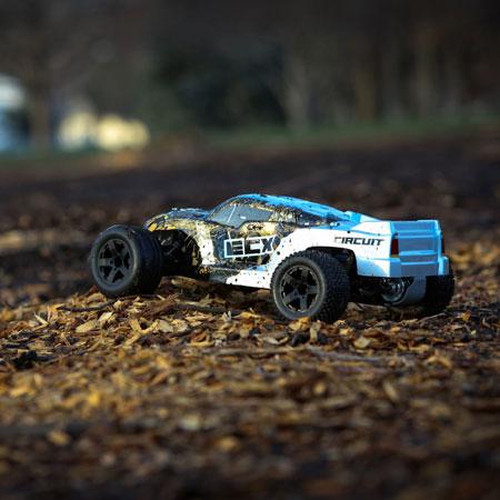CIRCUIT 1:10 2WD STADIUM TRUCK: BLACK/SILVER RTR INT