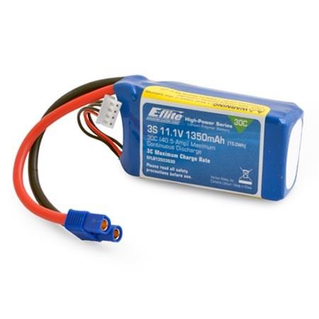 1350MAH 3S 11.1VOLT 30C LIPO 13 AWG EC3 CONNECTOR
