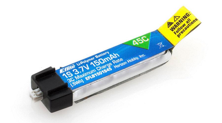 150mAh 1S 3.7V 45C LiPo Battery