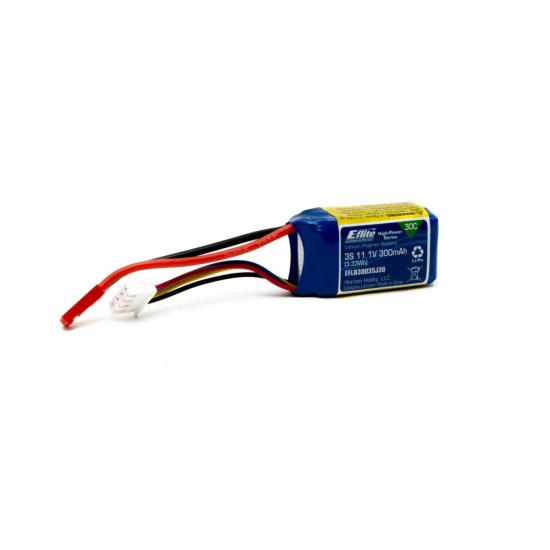 E-flite 300mAh 3S 11.1V 30C LiPo JST