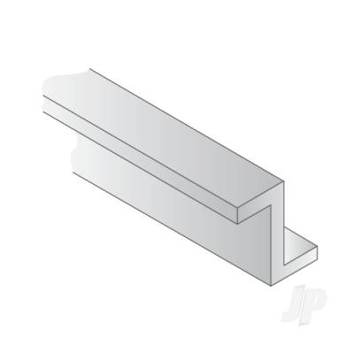 0.125in (3.1mm ) White Styrene Z-Channel (Pk3)