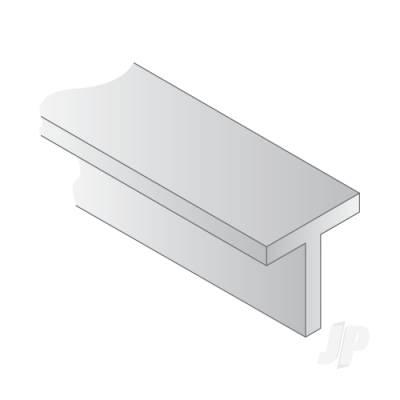 0.141in (3.6mm ) White Styrene T-Column (Pk3)