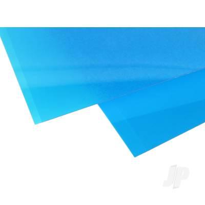 0.010in Blue Transparent Styrene Sheet (pk2)