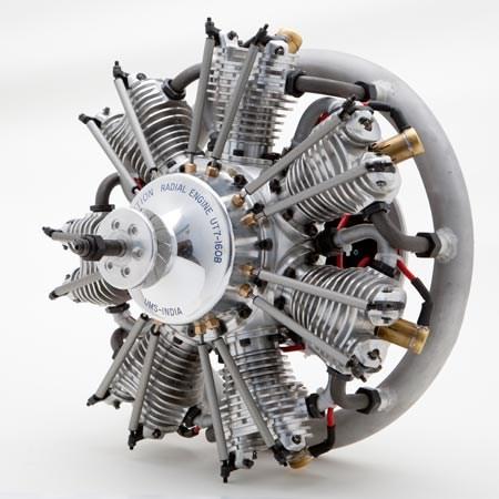 Radial 4 Stroke Petrol Engine160cc 7 cylinder