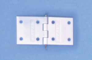 Kavan flat nylon pin hinges (pk 10) 1-11/32 x 5/8in