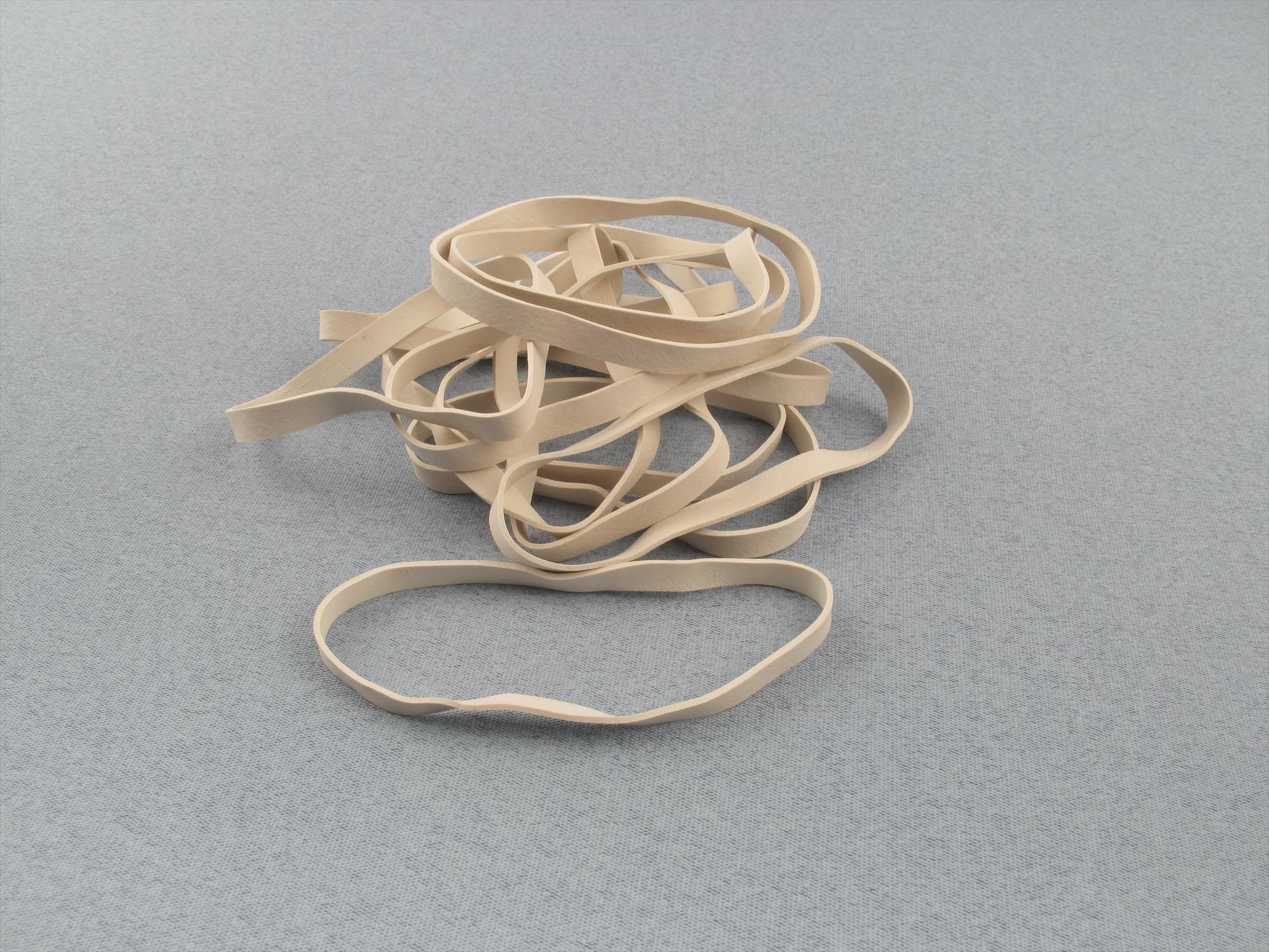 4 Inch White Rubber Bands(Pk12)