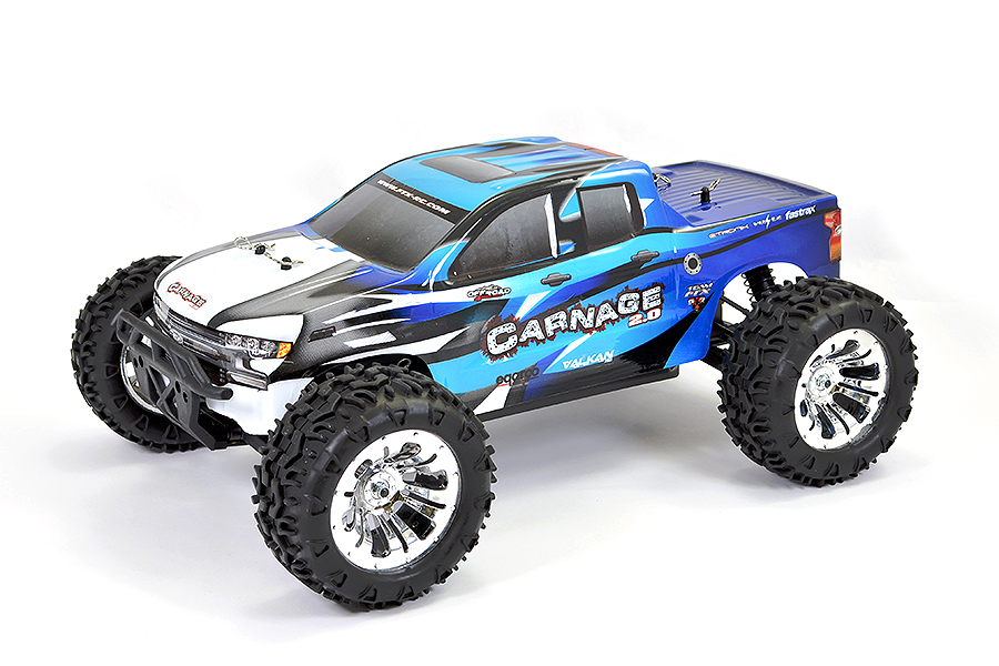 FTX CARNAGE 2.0 1/10 BRUSHED TRUCK 4WD RTR - BLUE