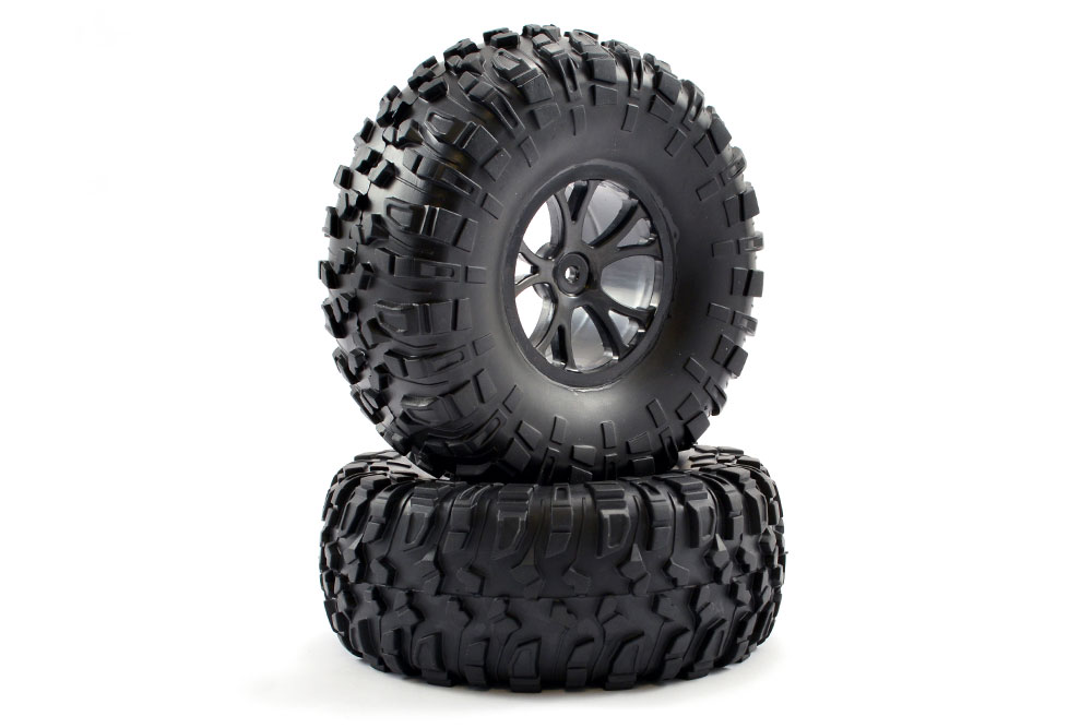 FTX OUTLAW PRE-MOUNTED WHEELS & TYRES - BLACK