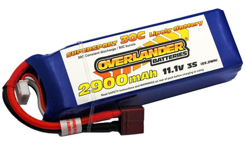 2900mAh 3S 11.1v 35C LiPo Battery With Deans Connector