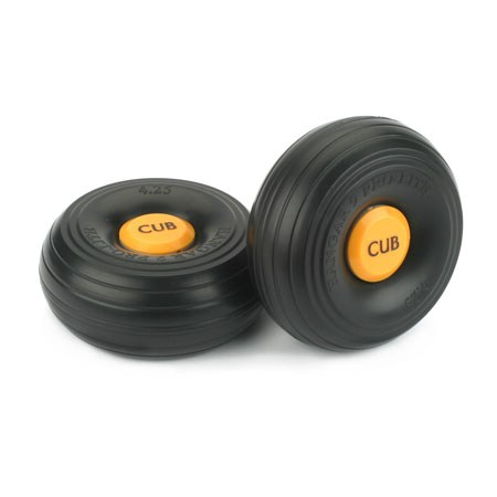 J-3 Cub 1/4 inch Scale Wheels 4-1/2 Pair