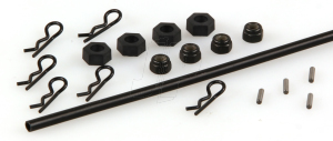Drive Pins, Wheel Hexes, Body Clips, Antenna Tubes