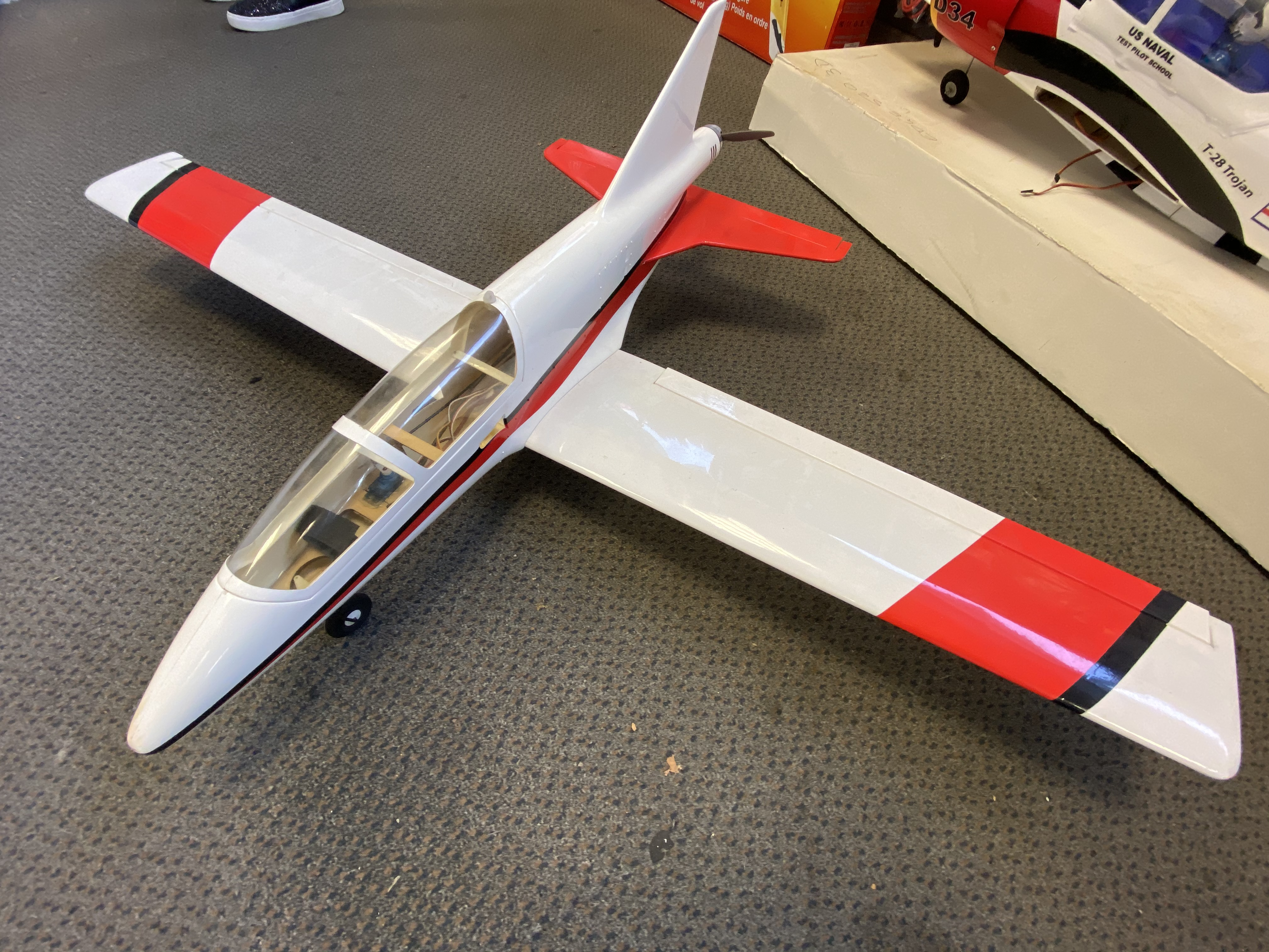 Brushless pusher plane