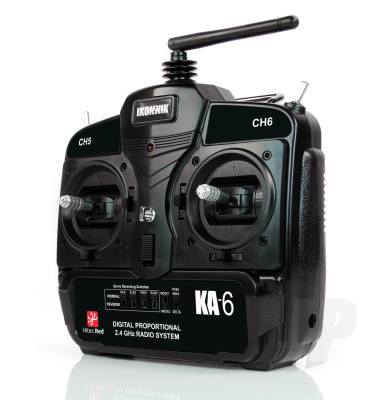 KA-6 6-Channel Radio System with Dual Centre Sprung Stick Units