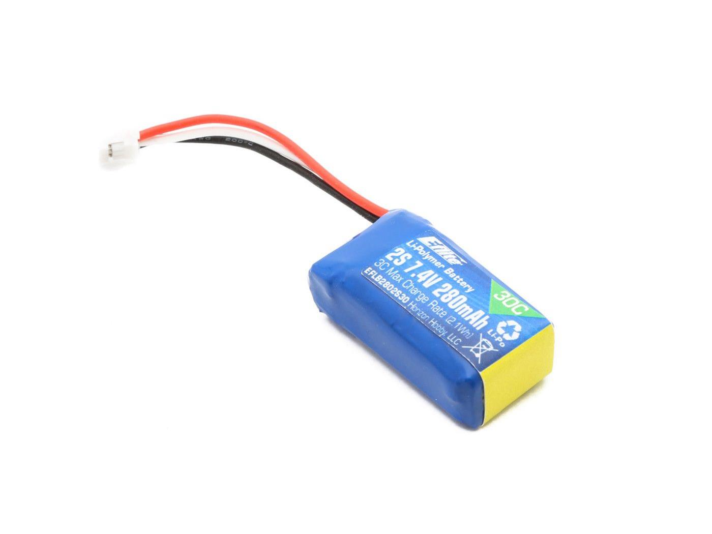 280mAh 2S 7.4V 30C Li-Po Battery