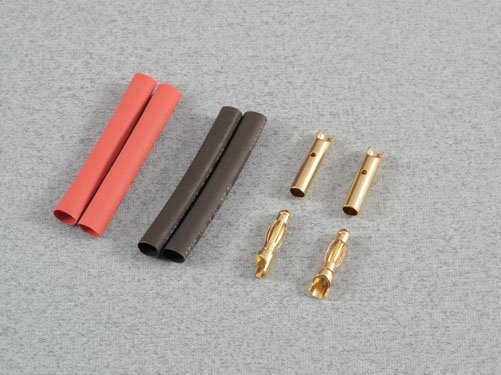 4.0mm Gold Connectors (2prs) Inc Heat Shrink