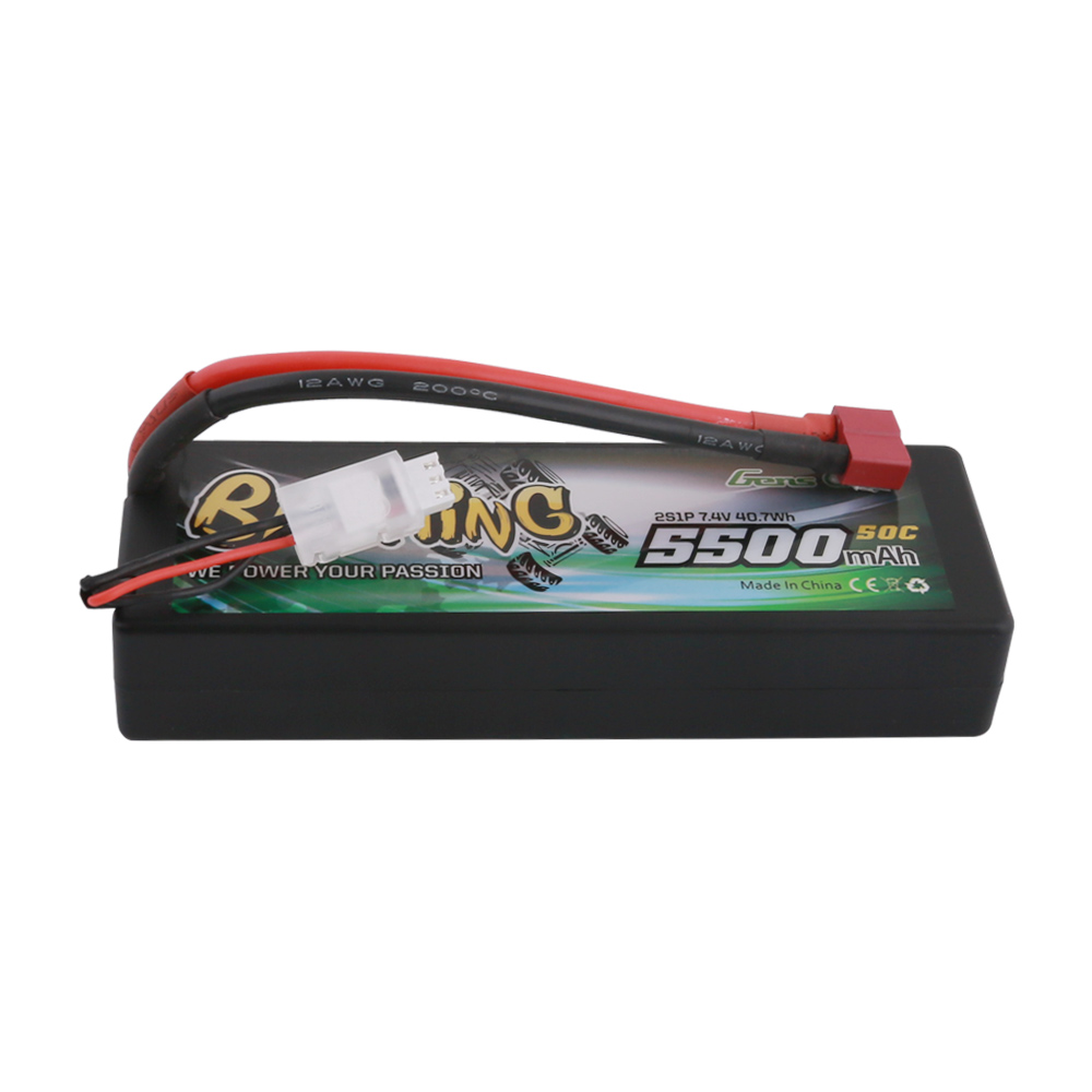 Gens Ace Li-Po Car Hard Case 2S 7.4V 5500mAh 50C with Deans