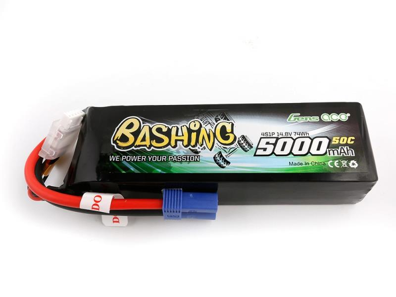Gens Ace Li-Po Car 4S 14.8V 5000mAh 50C with EC5