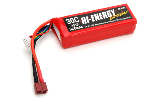 Hi-Energy 4S 14.8V 1800mAh 30C Li-Po