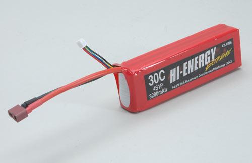 Hi-Energy Extreme 4S 3200mAh 30C Li-Po